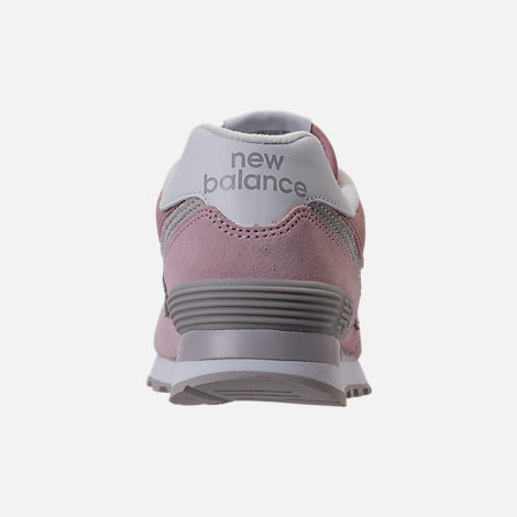 Back view of Women's New Balance 574 Casual Shoes in Faded Rose