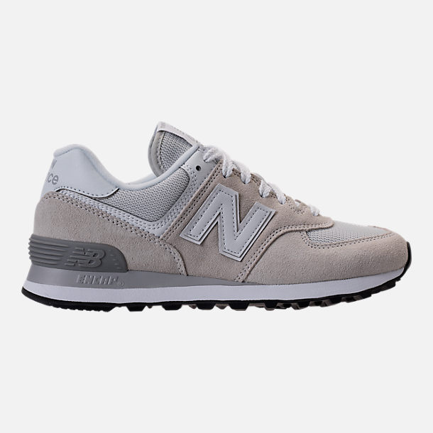 Right view of Women's New Balance 574 Casual Shoes in White