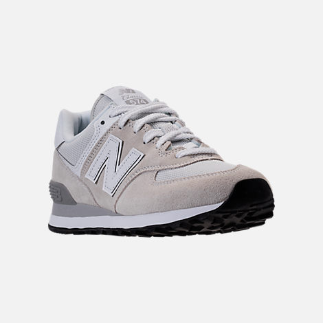 Three Quarter view of Women's New Balance 574 Casual Shoes in White