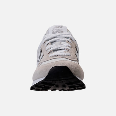 Front view of Women's New Balance 574 Casual Shoes in White