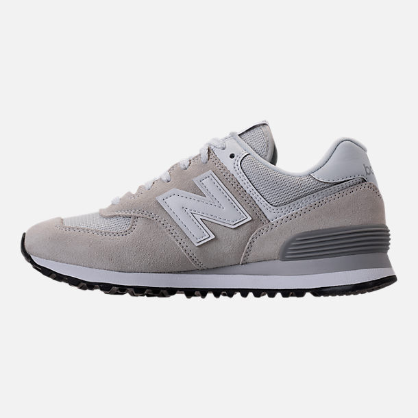 Left view of Women's New Balance 574 Casual Shoes in White