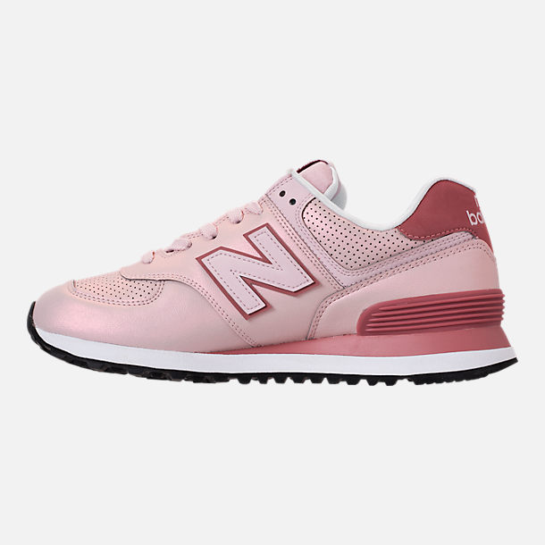 Left view of Women's New Balance 574 Iridescent Casual Shoes in Conch Shell
