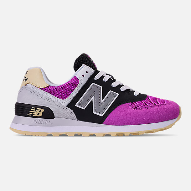 Right view of Women's New Balance 574 Casual Shoes in Purple/Black