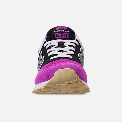 Front view of Women's New Balance 574 Casual Shoes in Purple/Black