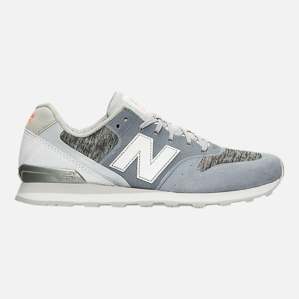 Right view of Women's New Balance 696 Re-Engineered Casual Shoes in Blue/White