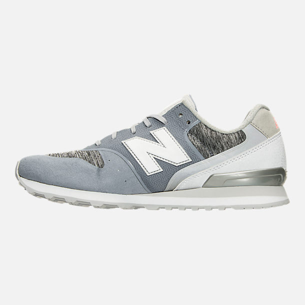 Left view of Women's New Balance 696 Re-Engineered Casual Shoes in Blue/White