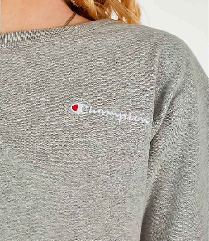 Detail 1 view of Women's Champion Crop T-Shirt in Oxford Grey