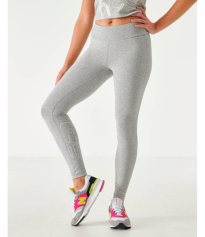 Front view of Women's New Balance NB Athletics Leggings in Grey