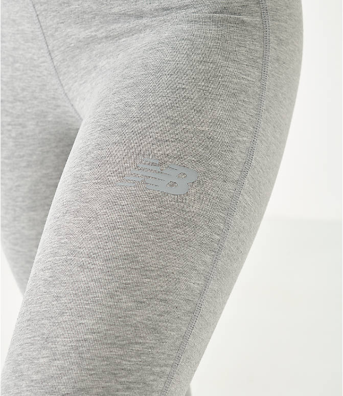 On Model 5 view of Women's New Balance NB Athletics Leggings in Grey