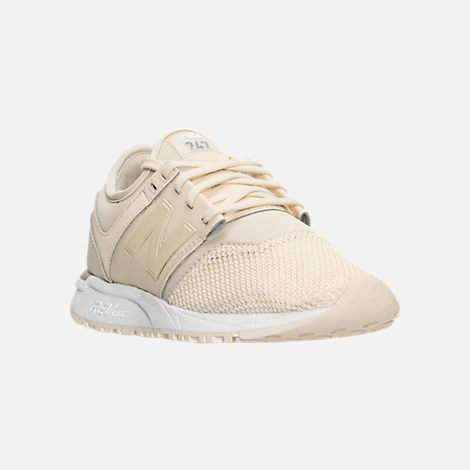 Three Quarter view of Women's New Balance 247 Casual Shoes in Bone/White