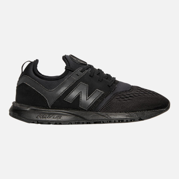 Right view of Women's New Balance 247 Casual Shoes in Black/Black