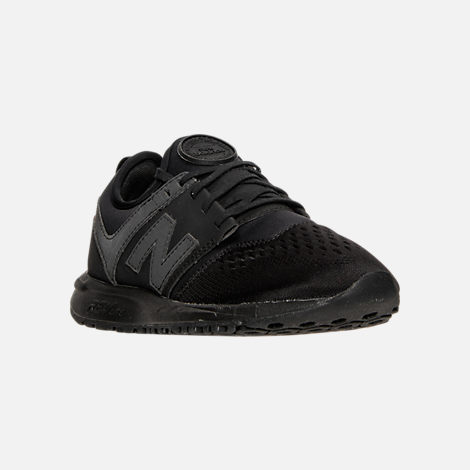 Three Quarter view of Women's New Balance 247 Casual Shoes in Black/Black