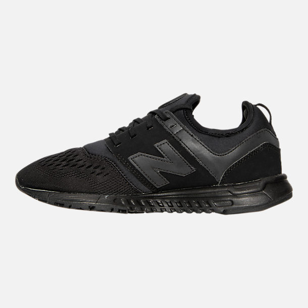 Left view of Women's New Balance 247 Casual Shoes in Black/Black