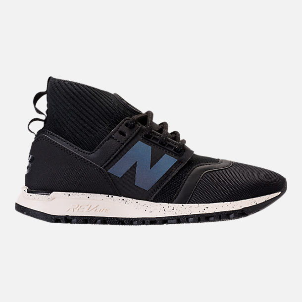 Right view of Women's New Balance 247 Mid-Cut Casual Shoes in Black