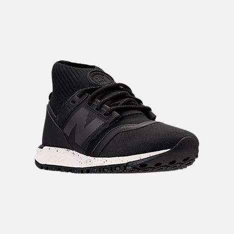 Three Quarter view of Women's New Balance 247 Mid-Cut Casual Shoes in Black