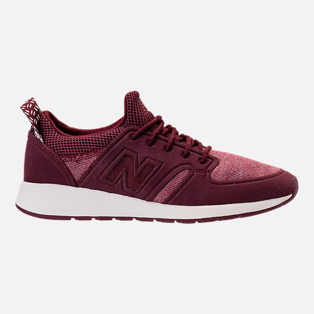 Right view of Women's New Balance 420 Slip-On Casual Shoes in Burgundy