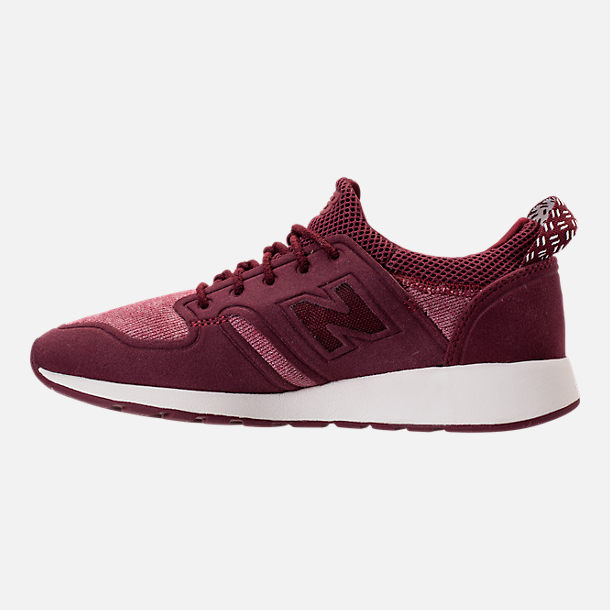 Left view of Women's New Balance 420 Slip-On Casual Shoes in Burgundy