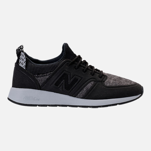 Right view of Women's New Balance 420 Slip-On Casual Shoes in Black