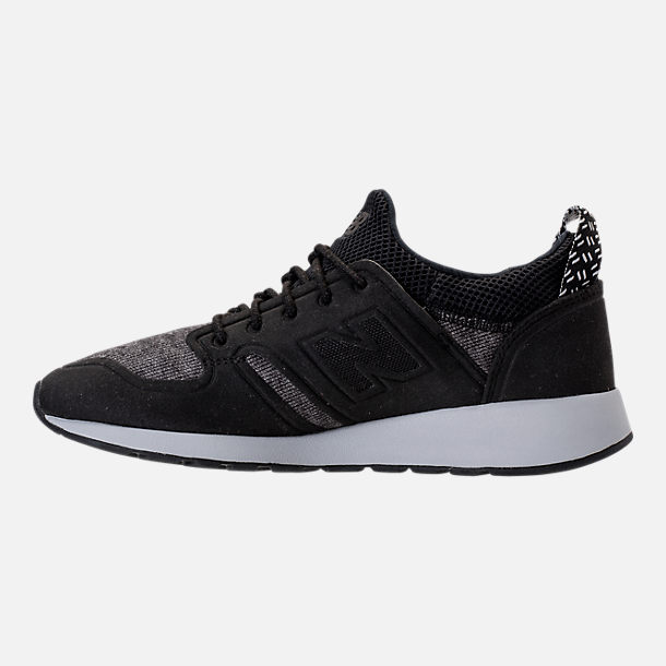 Left view of Women's New Balance 420 Slip-On Casual Shoes in Black
