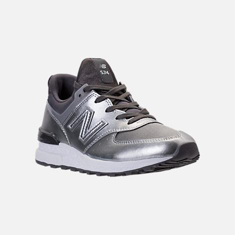 New Balance Women's 574 Silver- Sneakers Grey in Size 38 B OZzHibAL0