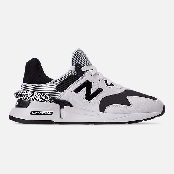 Right view of Women's New Balance 997 Sport Casual Shoes in White/Black