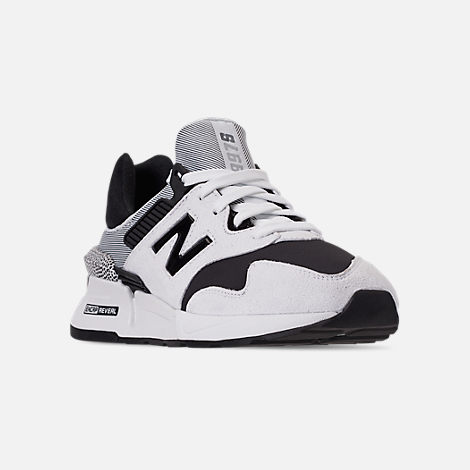 Three Quarter view of Women's New Balance 997 Sport Casual Shoes in White/Black