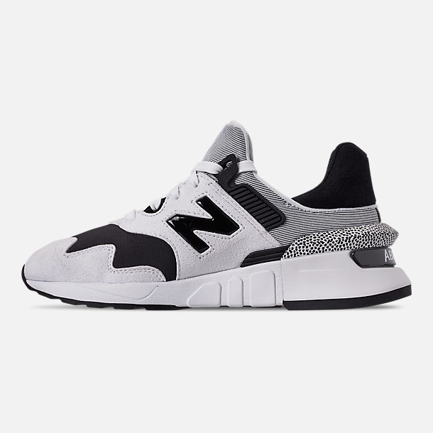 Left view of Women's New Balance 997 Sport Casual Shoes in White/Black