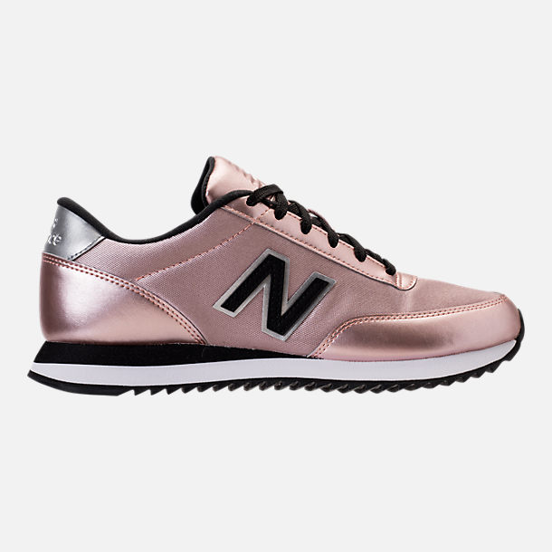 Right view of Women's New Balance 501 Casual Running Shoes in Champagne Metallic