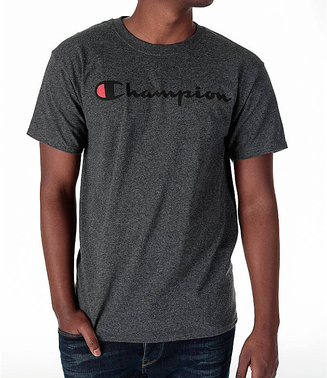 Detail 1 view of Men's Champion Graphic T-Shirt in Granite Heather