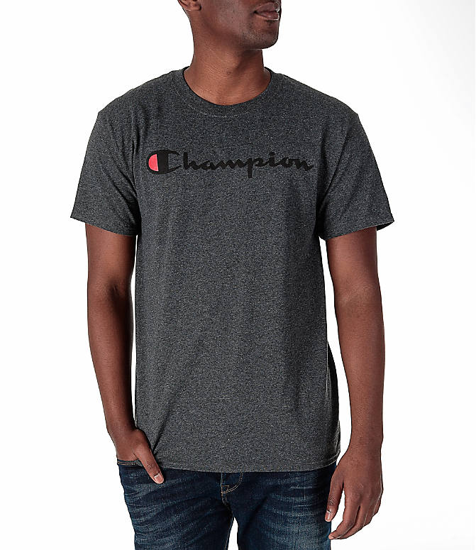 Front view of Men's Champion Graphic T-Shirt in Granite Heather