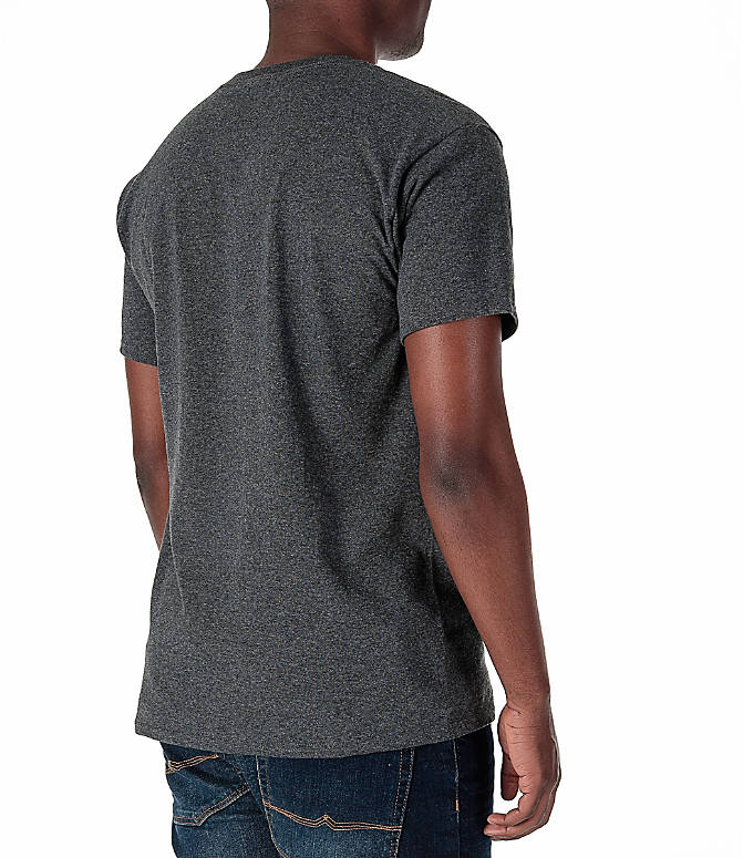 Back Right view of Men's Champion Graphic T-Shirt in Granite Heather