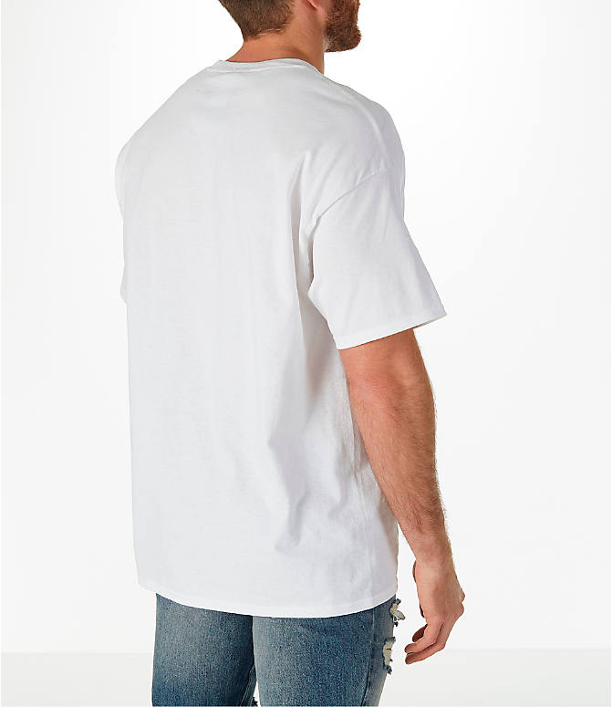 Back Right view of Men's Champion Graphic T-Shirt in White