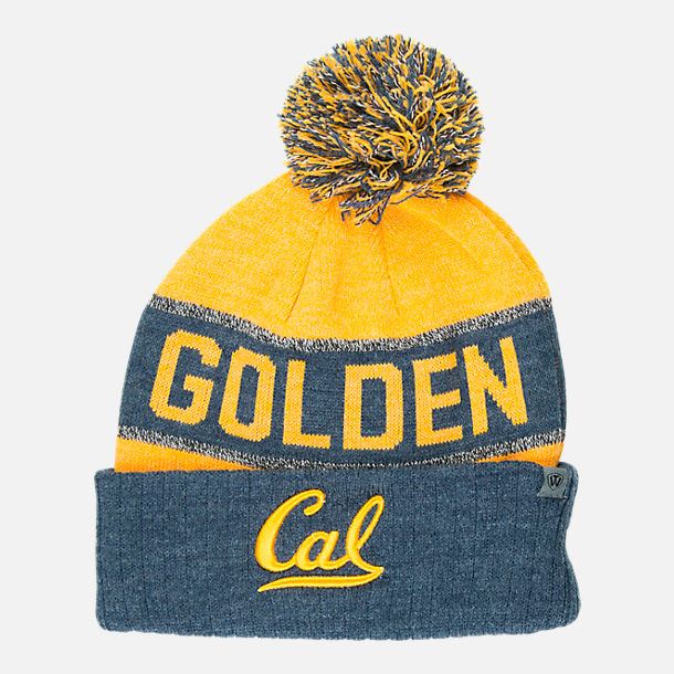 Front view of Top of the World Cal Golden Bears College Below Zero Cuffed  Pom Knit 86996df50