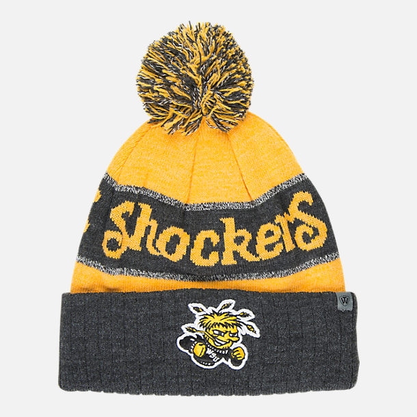 Front view of Top of the World Wichita State Shockers College Below Zero  Cuffed Pom Knit f500d13e9