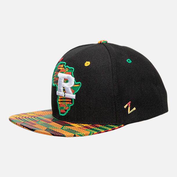 Front view of Zephyr Rutgers Scarlet Knights College Zukente Snapback Hat in Team Colors