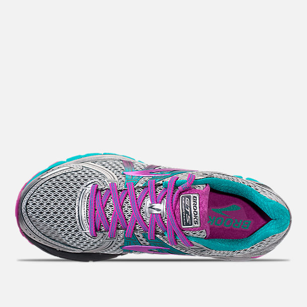 1627f4b4a00 Top view of Women s Brooks Adrenaline 17 GTS Running Shoes in Silver Purple  Cactus Flower