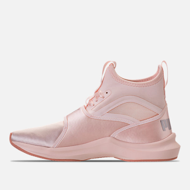 Left view of Women's Puma Phenom Satin EP Casual Shoes in Pearl/Pearl