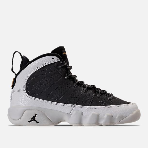 29e566cb8de7 Right view of Kids  Grade School Air Jordan Retro 9 Basketball Shoes in  Black