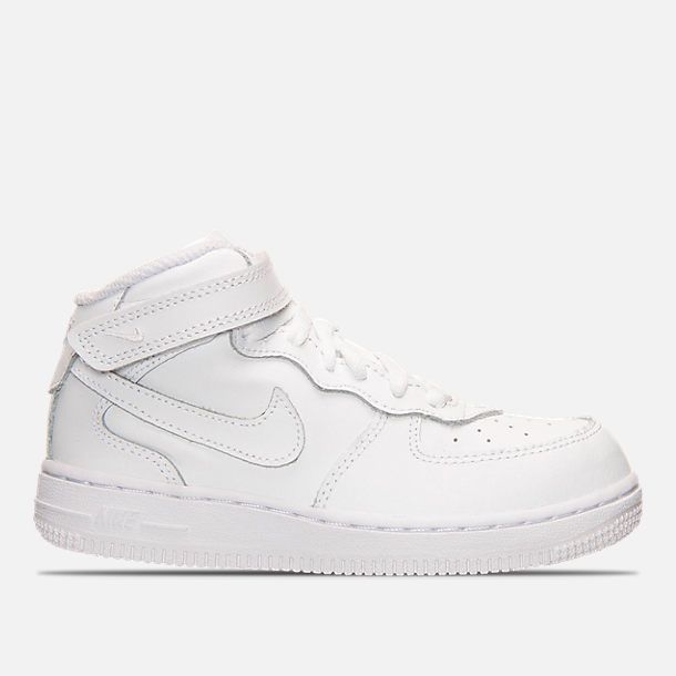 492d90a1a0 Right view of Toddler Nike Air Force 1 Mid Basketball Shoes in White