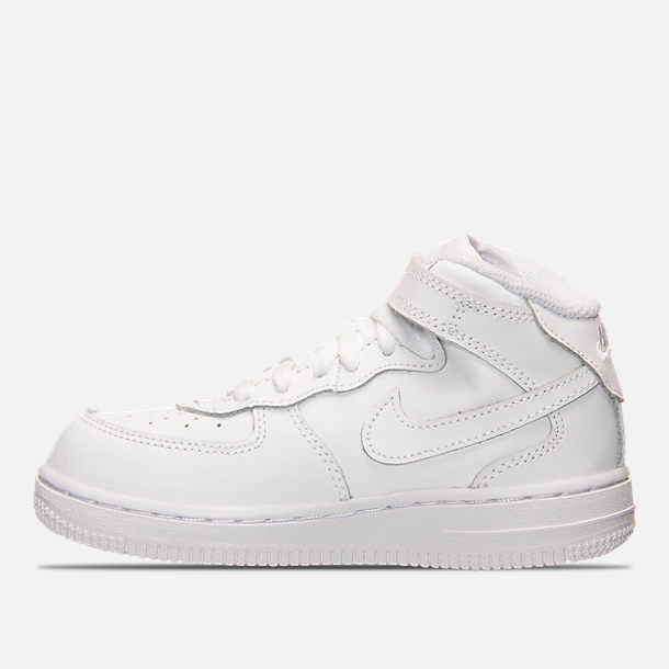c67b8e8cf2 Left view of Toddler Nike Air Force 1 Mid Basketball Shoes in White