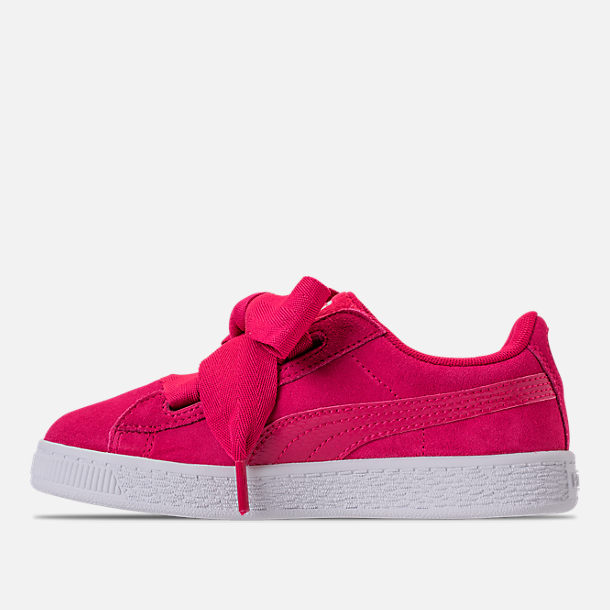 571c47747f2 Left view of Girls  Preschool Puma Suede Heart SNK Casual Shoes in Love  Potion