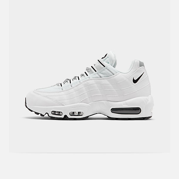 Right view of Men's Nike Air Max 95 Running Shoes in White/Black