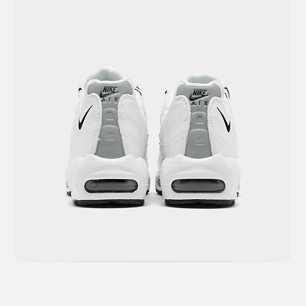 Left view of Men's Nike Air Max 95 Running Shoes in White/Black