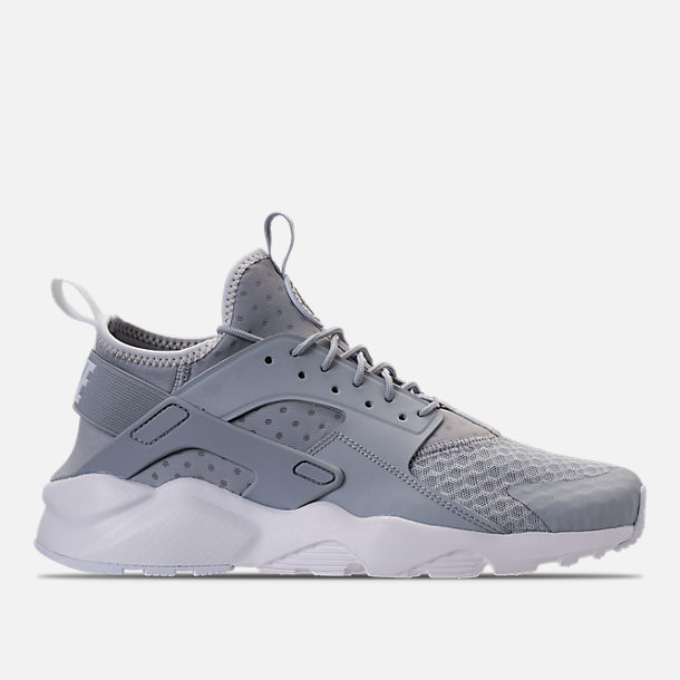 Right view of Men's Nike Air Huarache Run Ultra Casual Shoes in Wolf Grey/Pale Grey/White