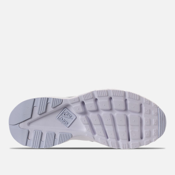 Bottom view of Men's Nike Air Huarache Run Ultra Casual Shoes in Wolf Grey/Pale Grey/White