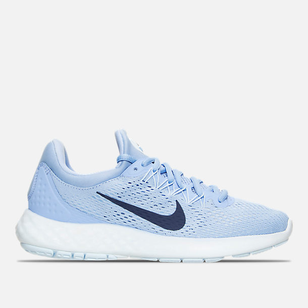 f25dd54edf4 Right view of Women s Nike Lunar Skyelux Running Shoes in Aluminum Binary  Blue Medium