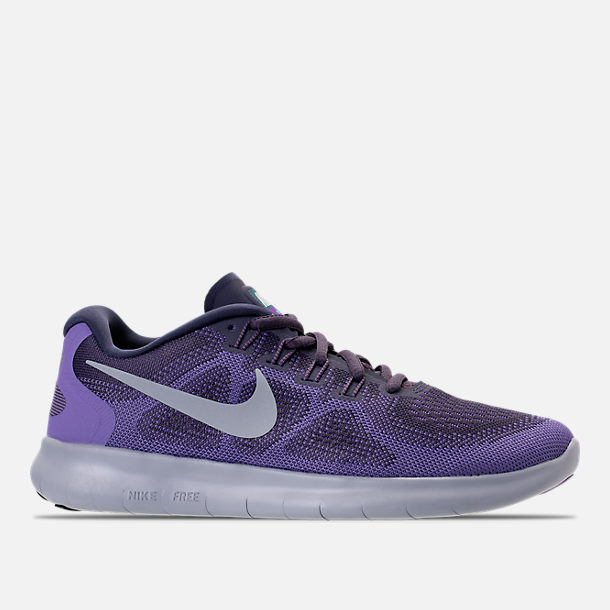 Right view of Women's Nike Free RN 2017 Running Shoes in Dark Raisin/Pure Platinum/Purple