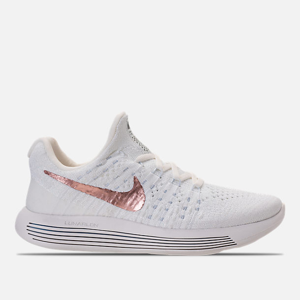 069bb6af90009 Right view of Women s Nike LunarEpic Low Flyknit 2 Running Shoes in  White Metallic Red