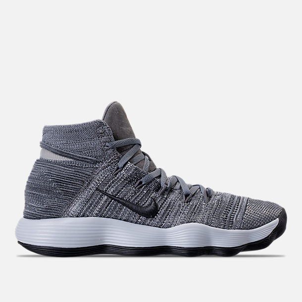 ... 007; right view of mens nike hyperdunk 2017 flyknit basketball shoes in  cool grey anthracite