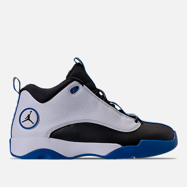 Right view of Men's Air Jordan Jumpman Pro Quick Basketball Shoes in White/Black/Varsity Royal